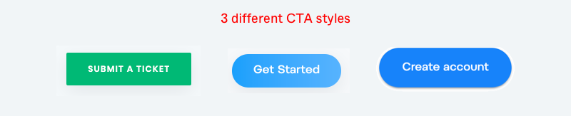 3 different CTA styles